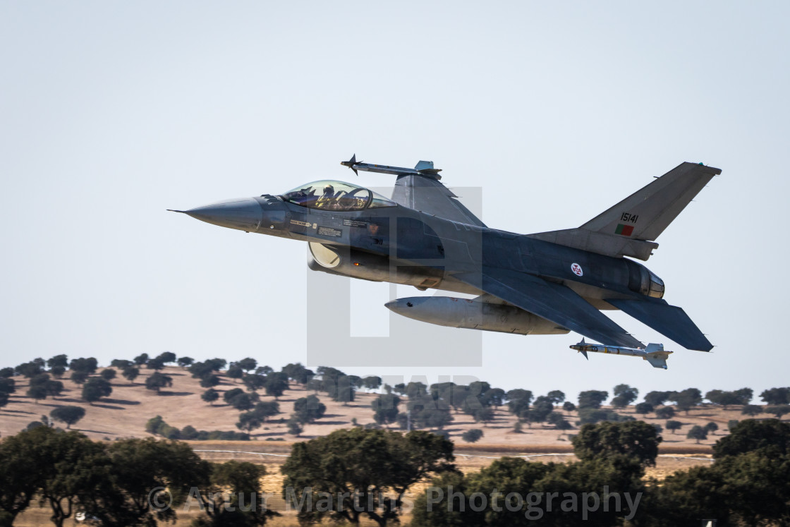 """F-16 Fighting Falcon of the Portuguese Air Force"" stock image"