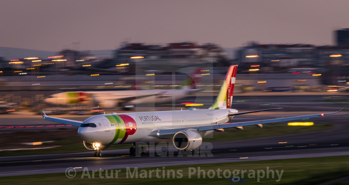Airliner Airbus A330 CS-TUJ of TAP Air Portugal taking off