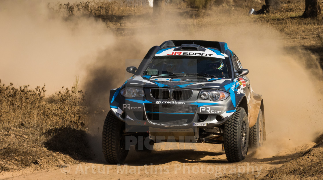 """A BMW Proto Series 1 off-road race car during the Baja TT Portalegre 500 2017"" stock image"