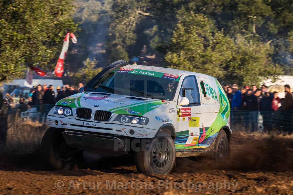 """A BMW X5 CC pff-road car during the Baja TT Portalegre 500 2019"" stock image"