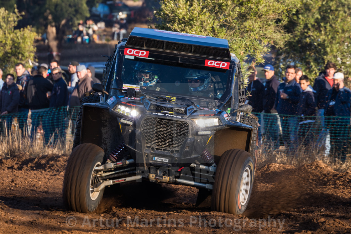 """A Polaris RZR 1000 Turbo off-road during the Baja TT Portalegre 500 2019"" stock image"