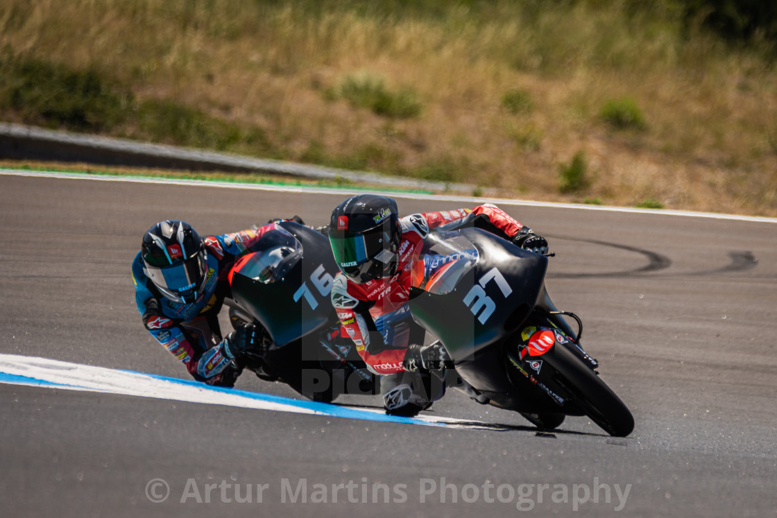 """Rider Pedro Acosta during a free practice of FIM CEV Repsol Estoril 2020"" stock image"
