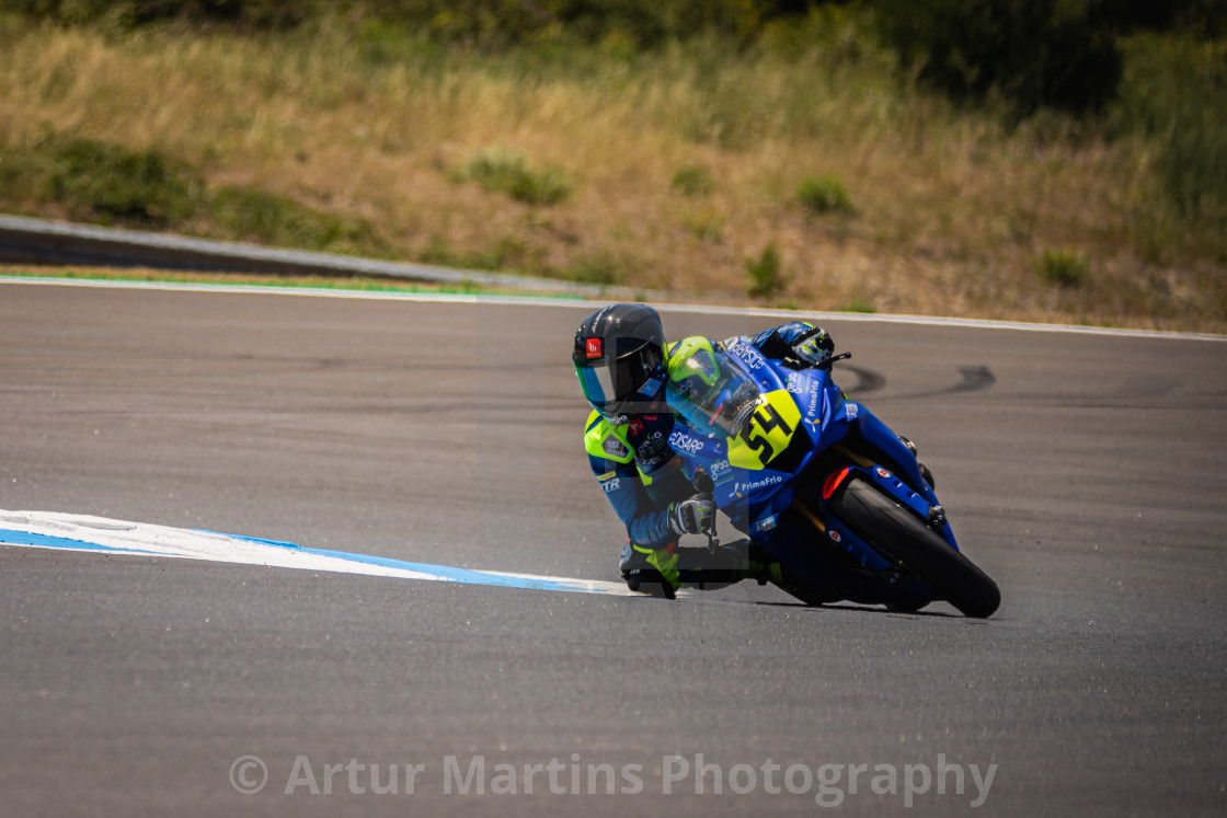 """Rider Fermin Aldeguer during a free practice of FIM CEV Repsol Estoril 2020"" stock image"