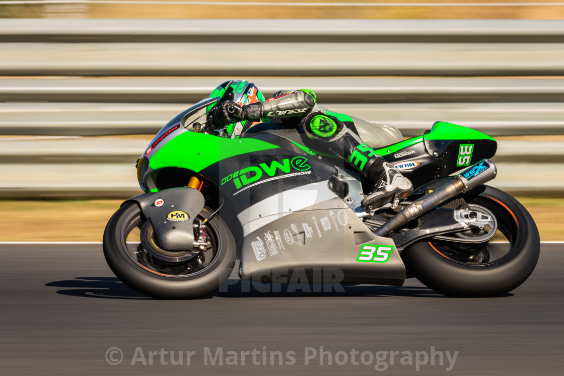 """Rider Sam Wilford during a free practice of FIM CEV Repsol Estoril 2020"" stock image"