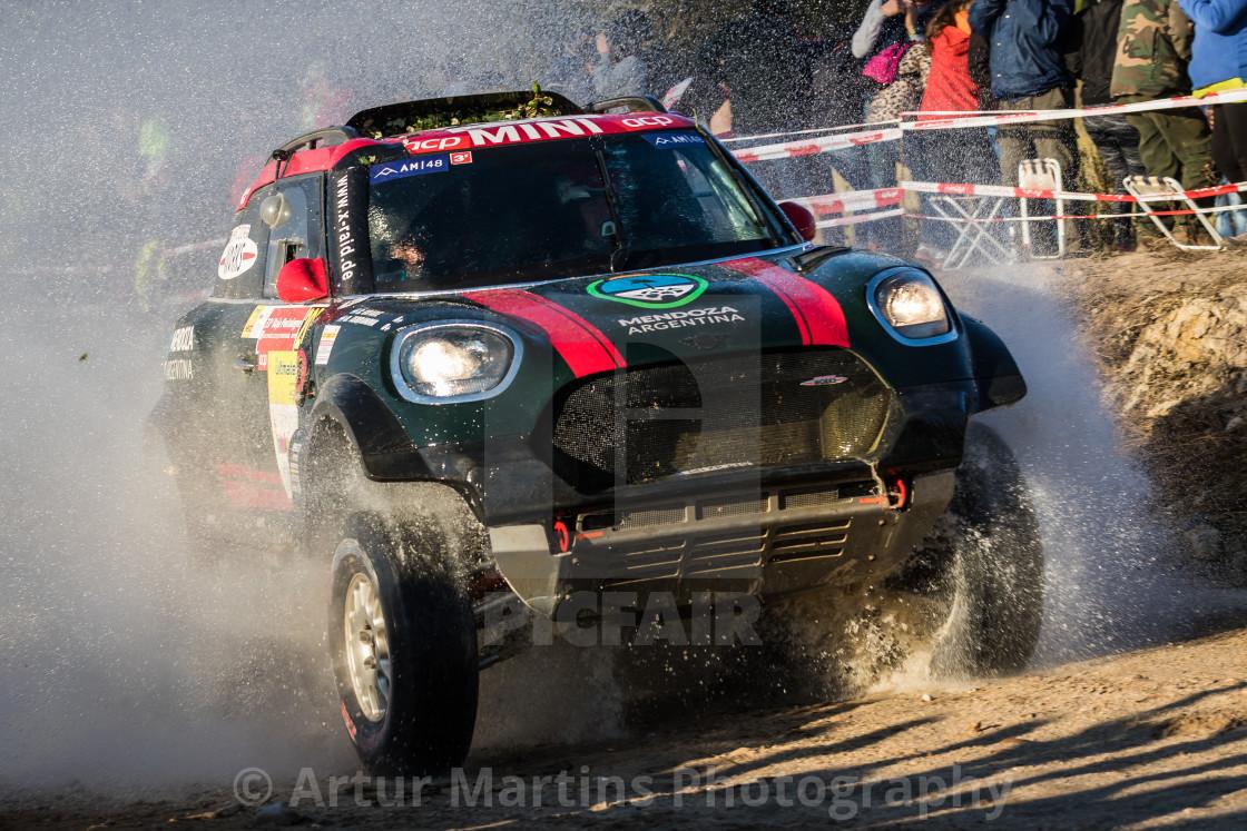"""An off-road car Mini John Cooper Works Rally during the Baja TT Portalegre 500 2019"" stock image"