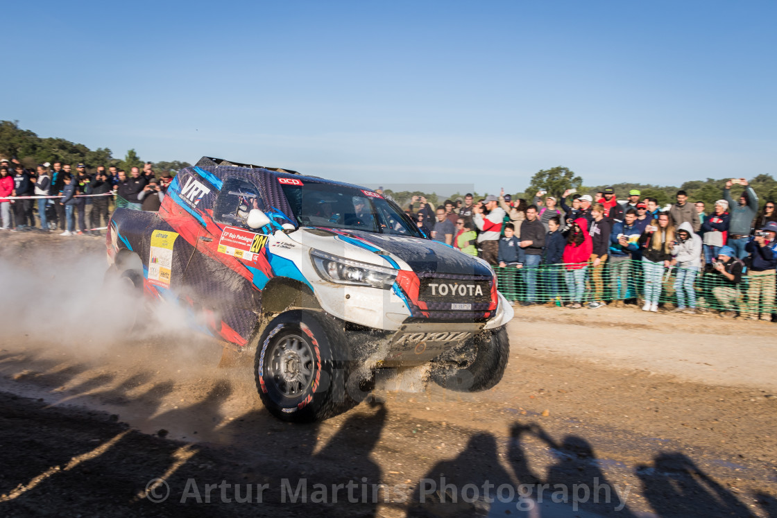 """""""An off-road car Toyota Hilux Overdrive during the Baja TT Portalegre 500 2019"""" stock image"""