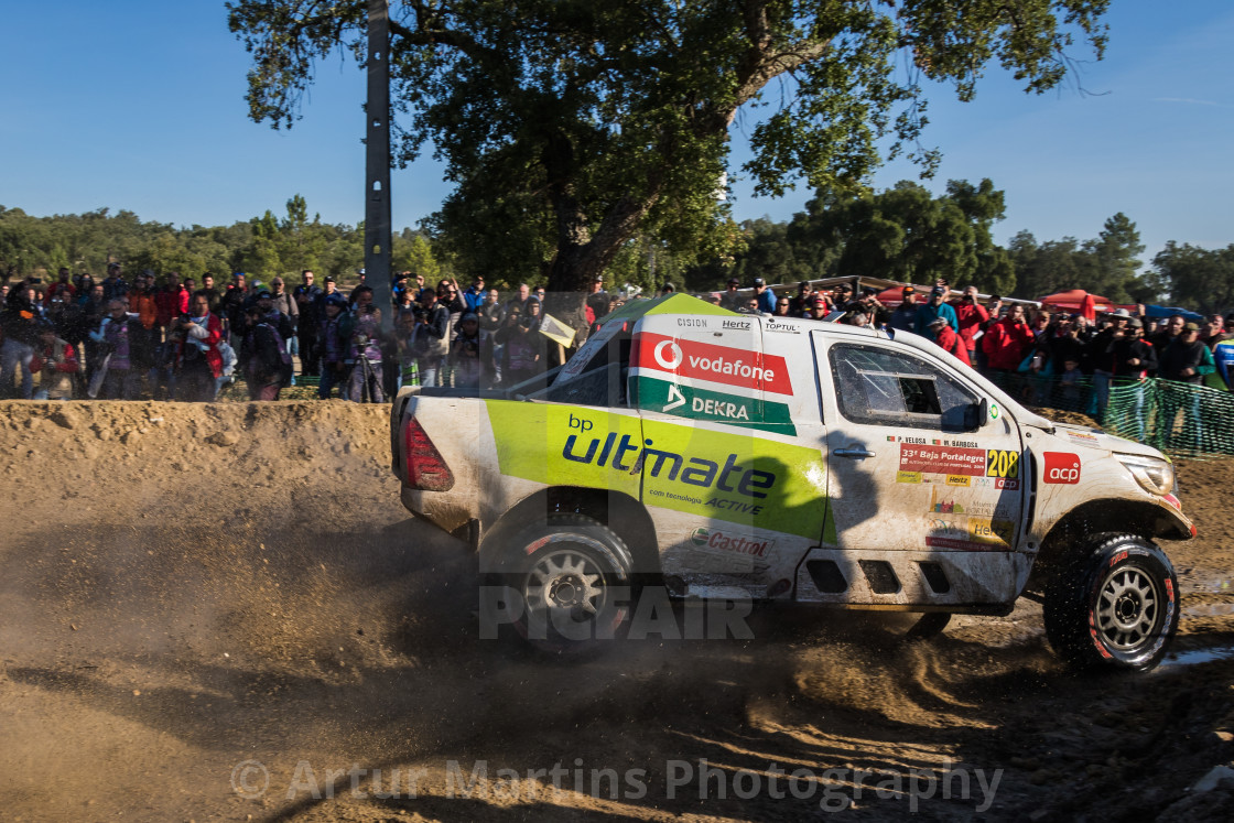 """An off-road car Toyota Hilux Overdrive during the Baja TT Portalegre 500 2019"" stock image"