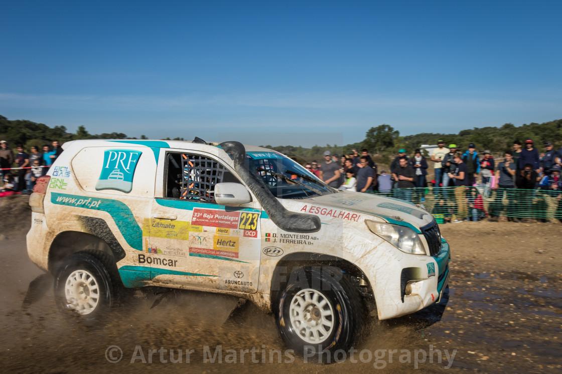 """An off-road car Toyota Land Cruiser during the Baja TT Portalegre 500 2019"" stock image"