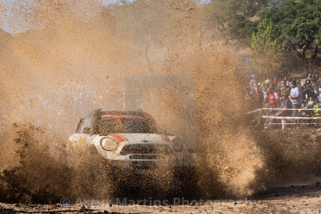 """An off-road car Mini Cattiva Proto during the Baja TT Portalegre 500 2019"" stock image"