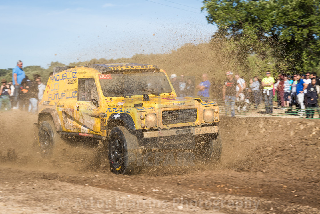 """An off-road car Bowler Wildcat Proto during the Baja TT Portalegre 500 2019"" stock image"