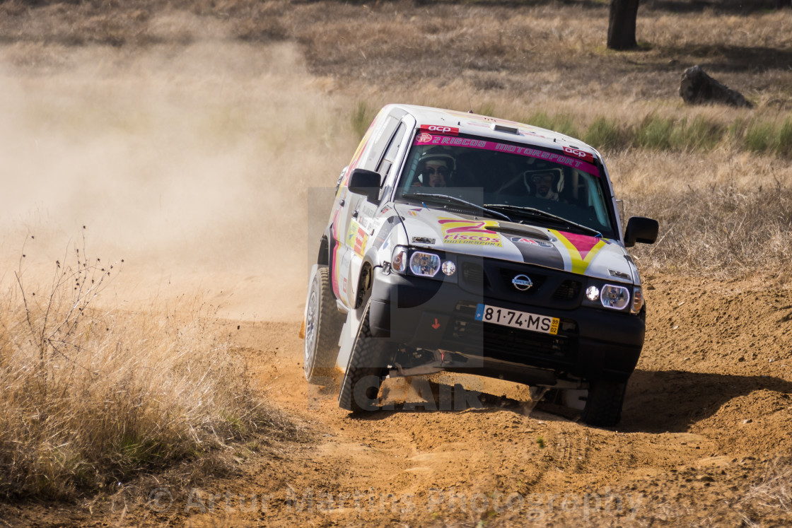 """An off-road car Nissan Terrano II during the Baja TT Portalegre 500 2016"" stock image"
