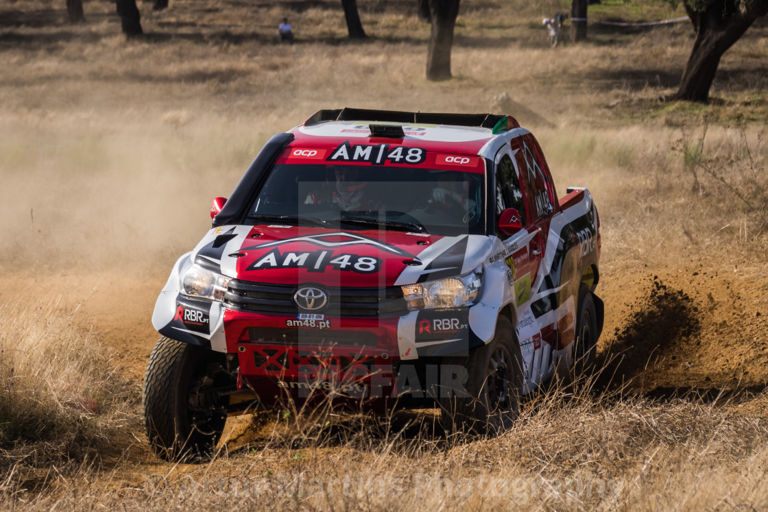 """An off-road car Toyota Hilux during the Baja TT Portalegre 500 2016"" stock image"