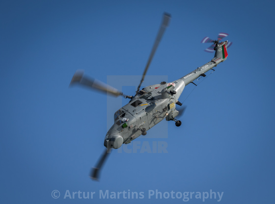 """Military helicopter Lynx Mk 95 of the Portuguese Navy"" stock image"