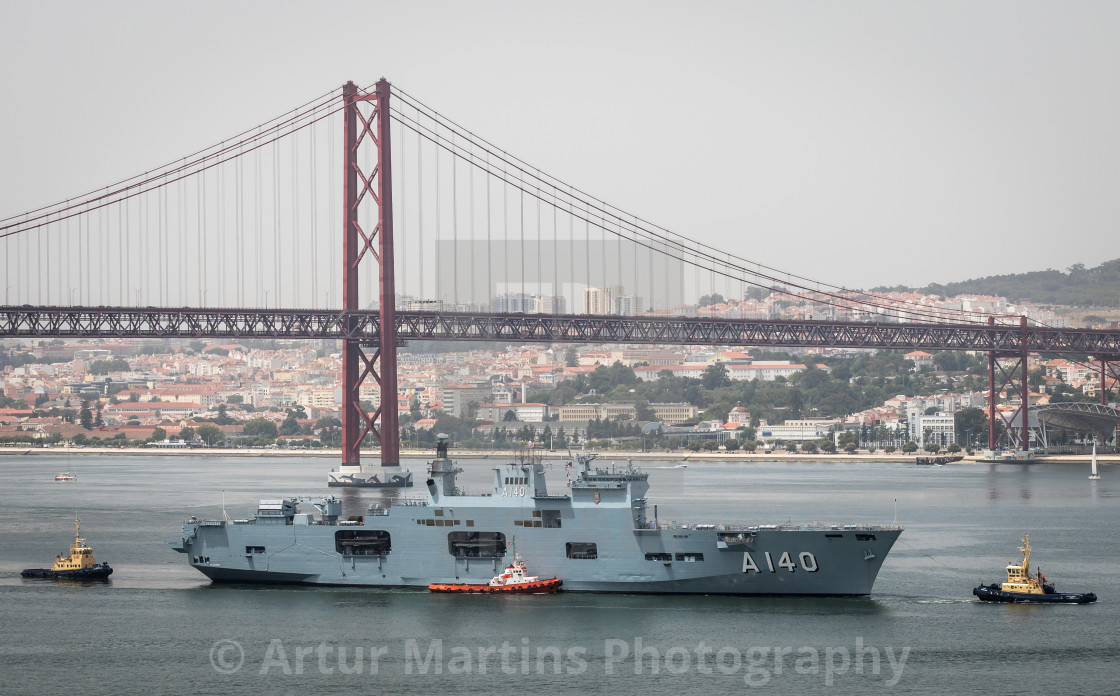 """Helicopter carrier PHM Atlântico of the Brazilian Navy"" stock image"