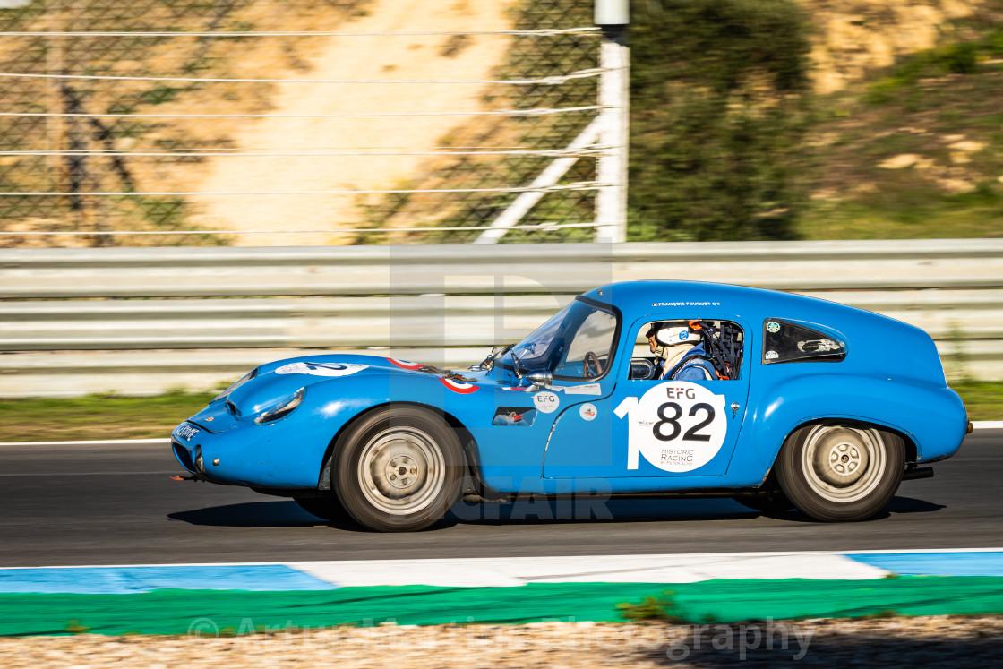 """A DB HBR classic race car during Estoril Classics 2020"" stock image"