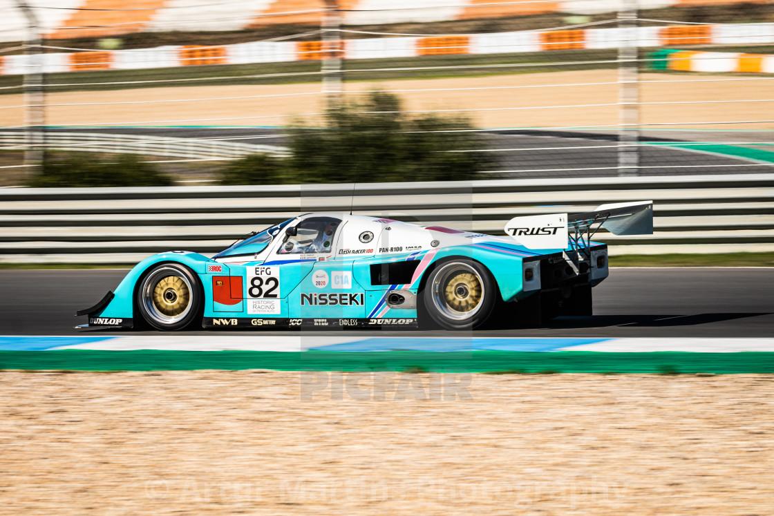 """A Porsche classic race car during Estoril Classics 2020"" stock image"