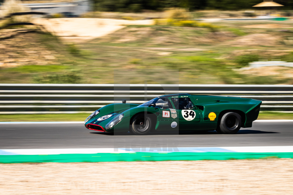 """A Lola classic race car during Estoril Classics 2020"" stock image"