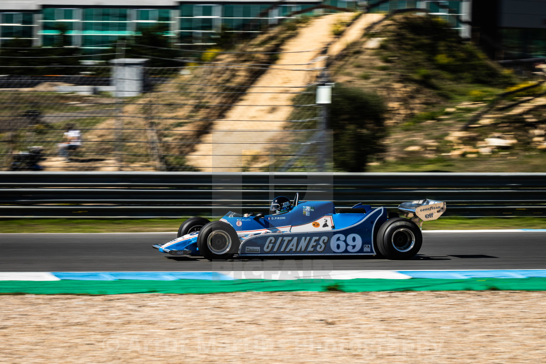 """A Ligier classic F1 race car during Estoril Classics 2020"" stock image"