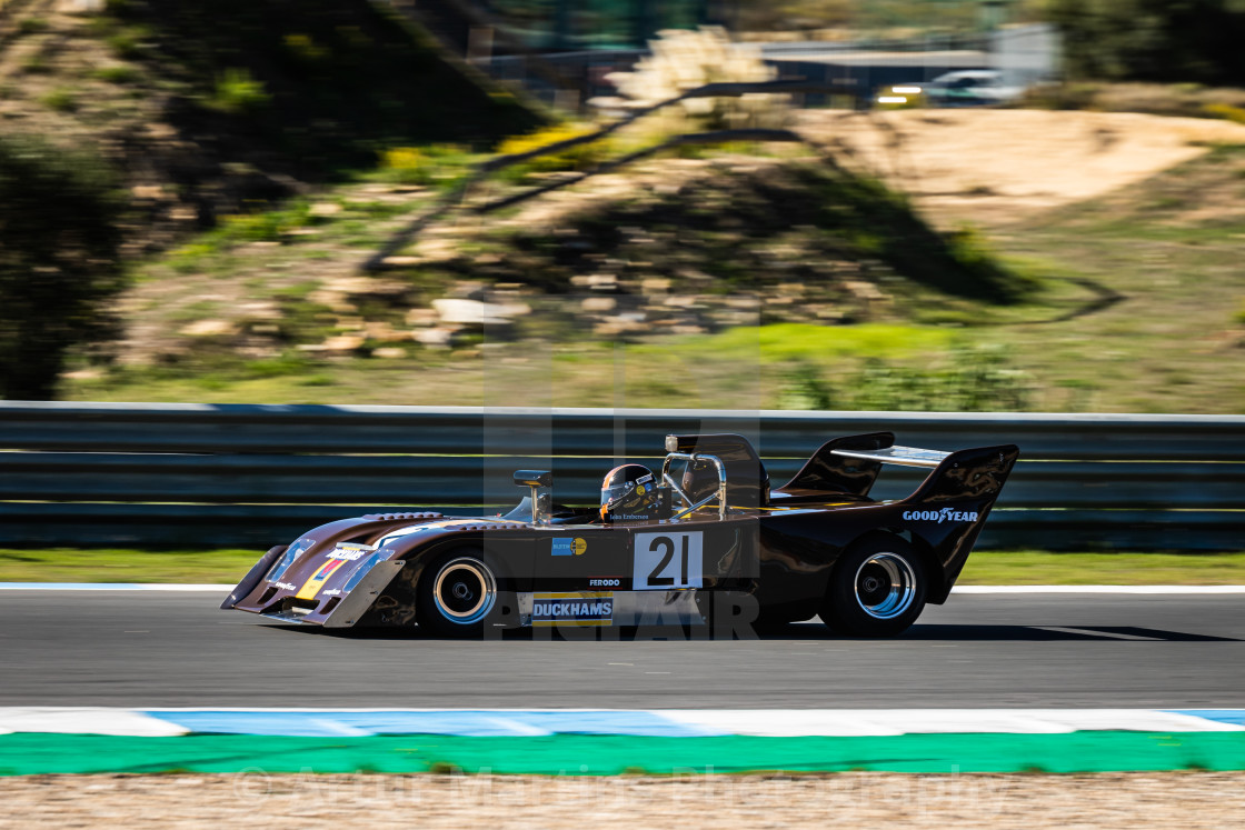 """A Chevron classic race car during Estoril Classics 2020"" stock image"