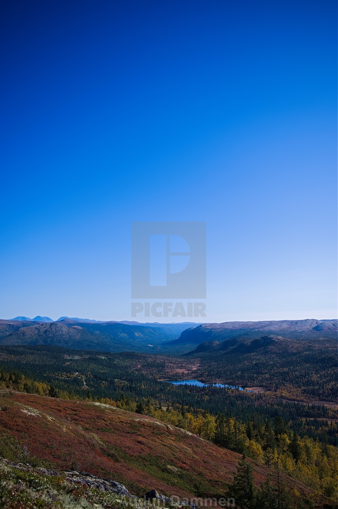 """""""Valley in the distance"""" stock image"""