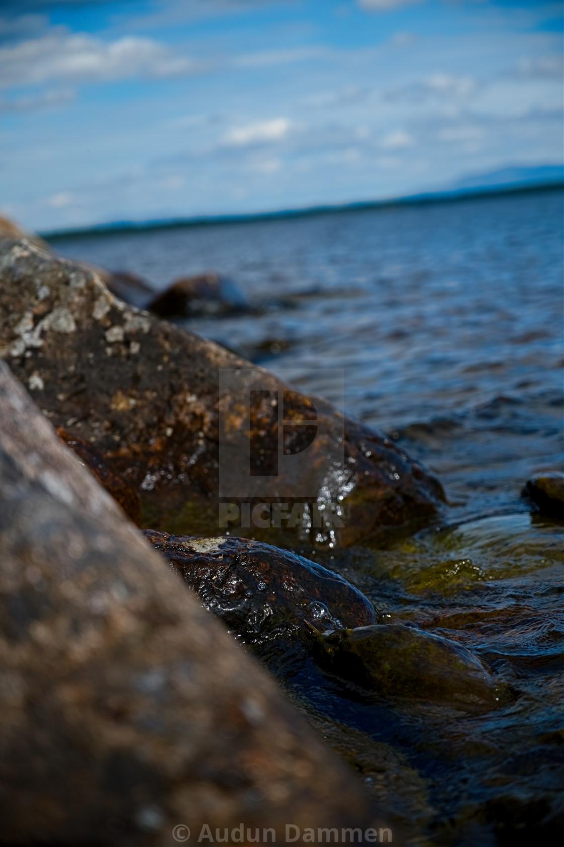 """rocky shore"" stock image"