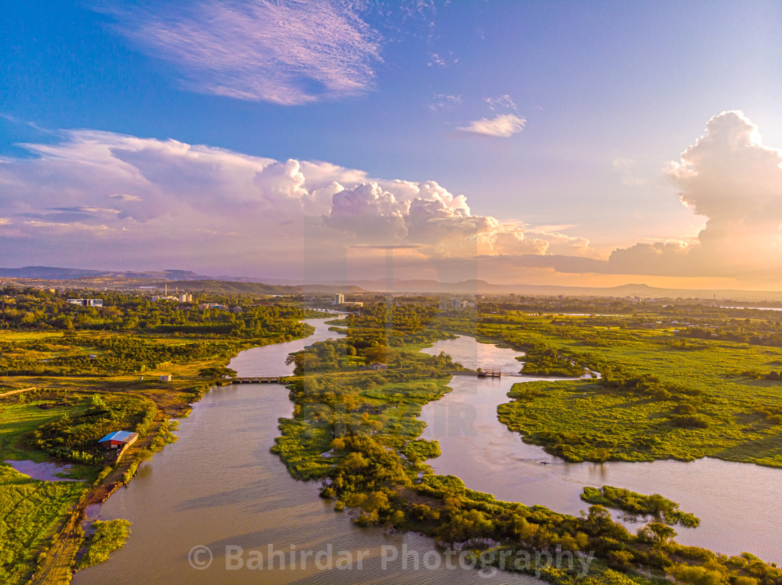 """""""The headwaters of the Abbay River - Bahir Dar, Ethiopia"""" stock image"""