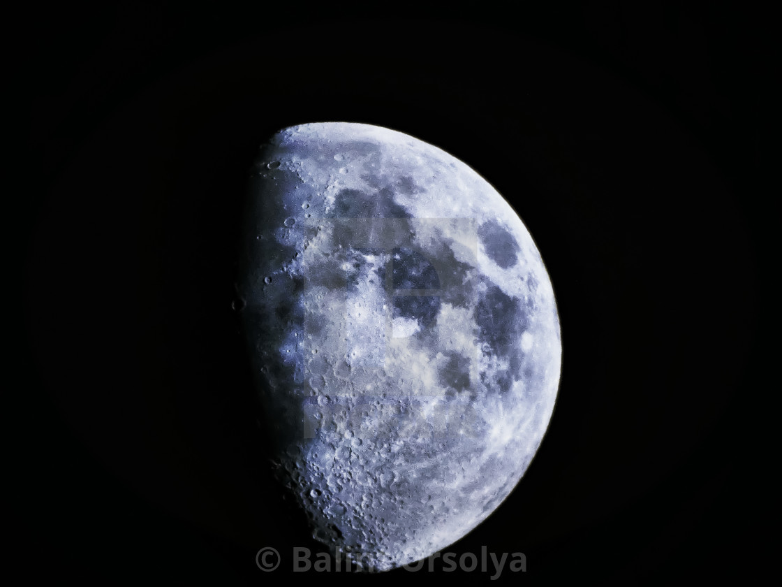 """Half shining moon"" stock image"
