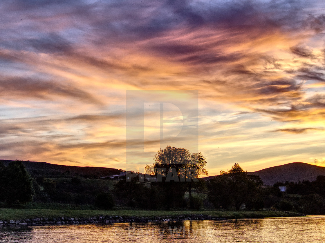 """Sunrise Over Spey"" stock image"