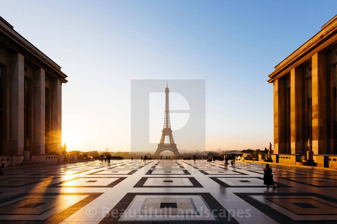 """Paris Eifel Tower Sunrise"" stock image"