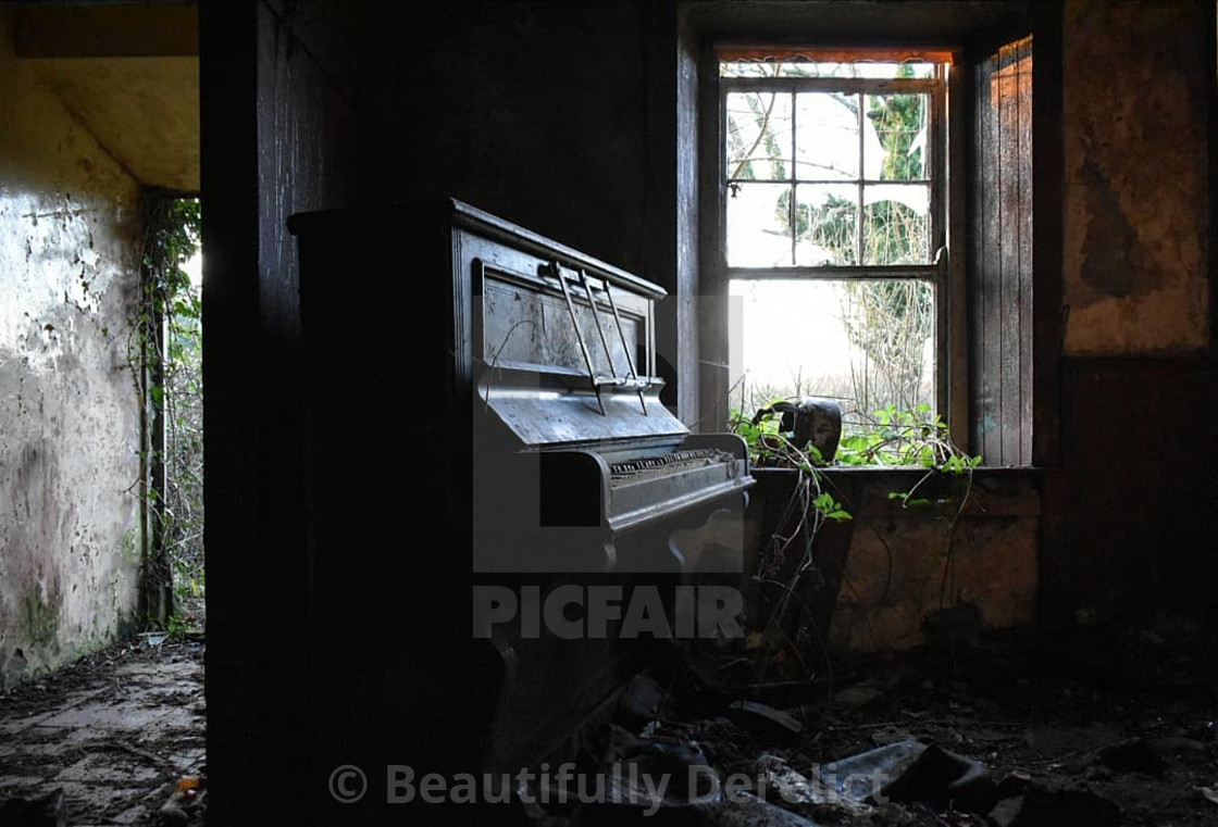 """""""Piano in the Dark *Available in Digital Download only*"""" stock image"""