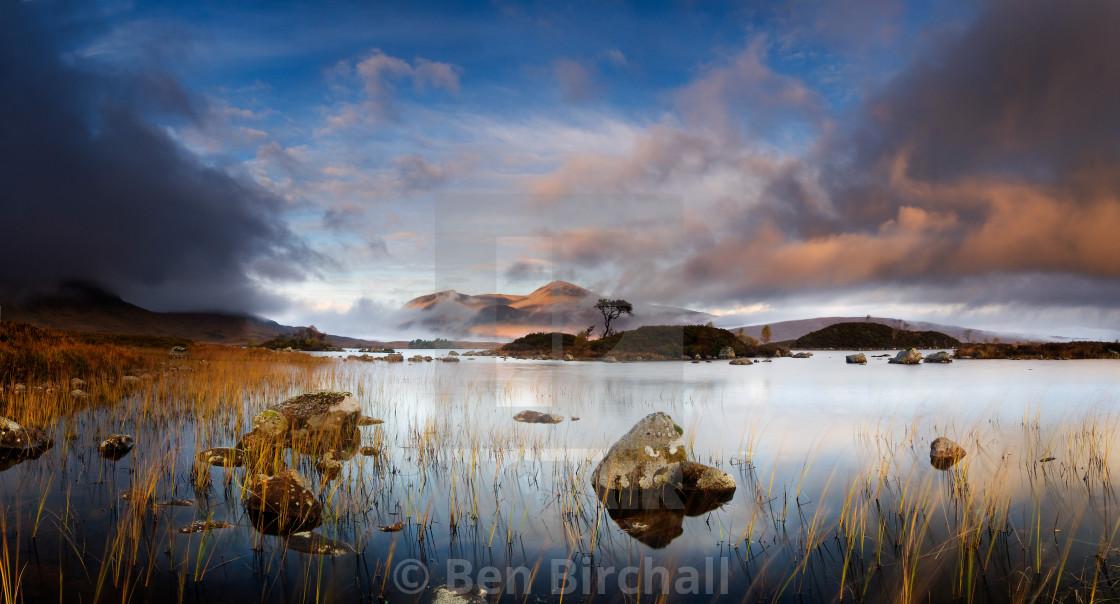 """Rannoch Moor at Sunrise"" stock image"