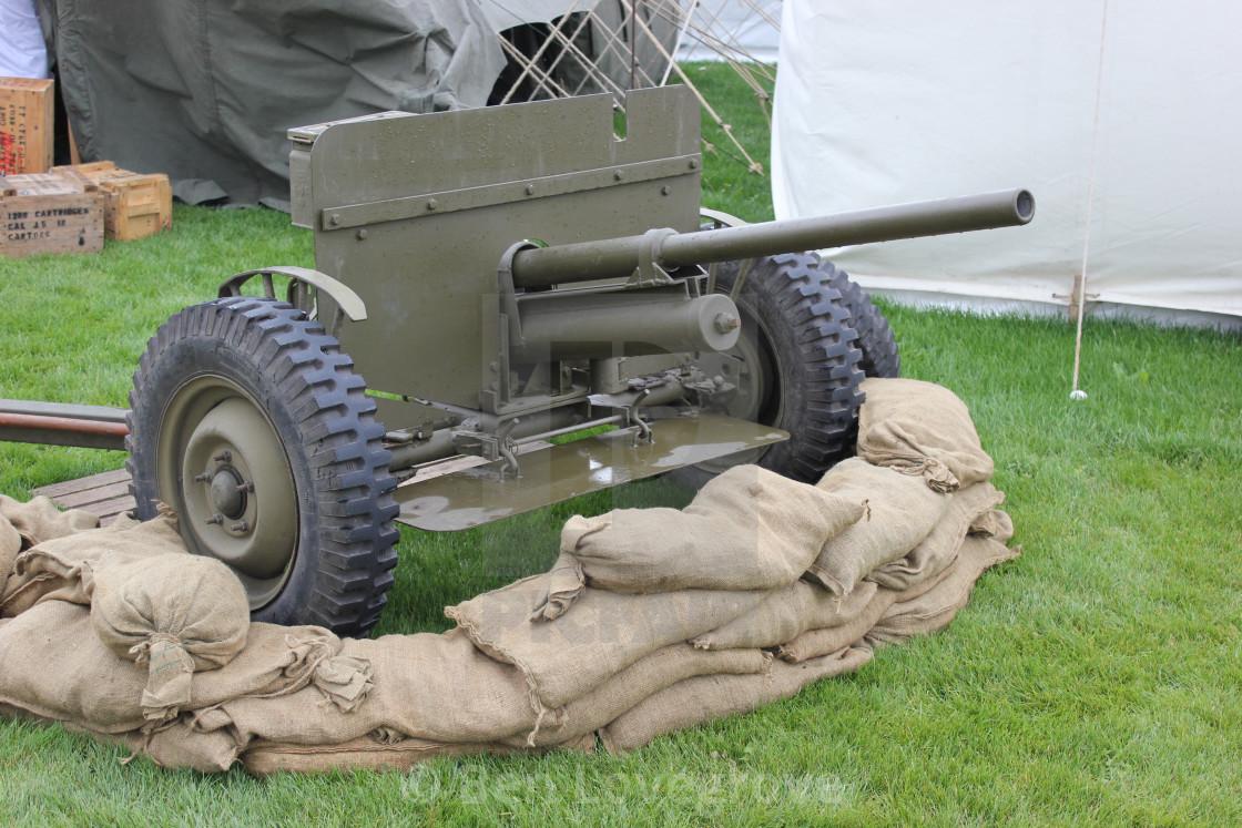 """""""World War II Light Artillery Piece"""" stock image"""