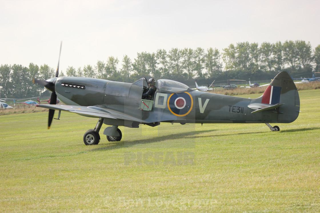 """""""Spitfire Mk XVI TE311"""" stock image"""