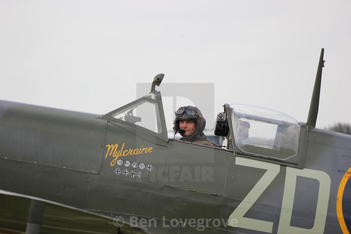 """Supermarine Spitfire MH434 ""Mylcraine"""" stock image"