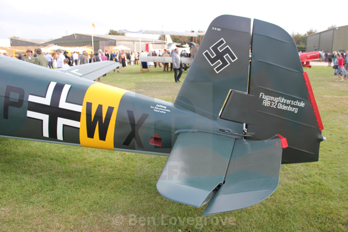 """Tail of a Messerschmitt BF108"" stock image"