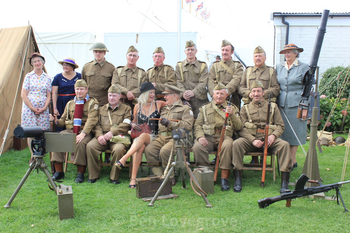 """""""Dad's Army Reenactment"""" stock image"""