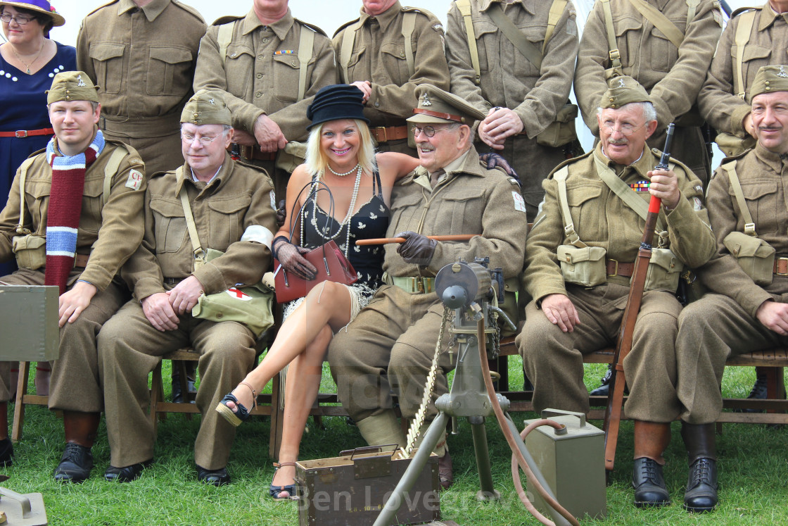 """Dad's Army Reenactment"" stock image"