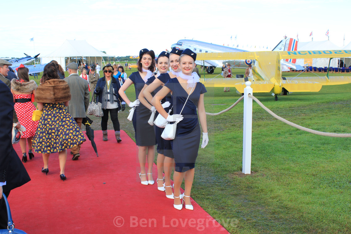 """Air Stewardess Line-up"" stock image"
