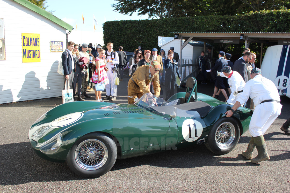 """Paddock Scene at the Goodwood Revival 2017"" stock image"