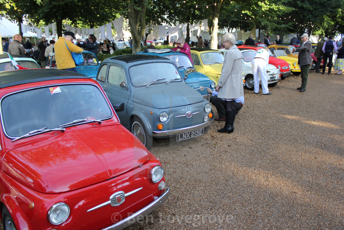 """Fiat Festival, Goodwood Revival, 2017"" stock image"