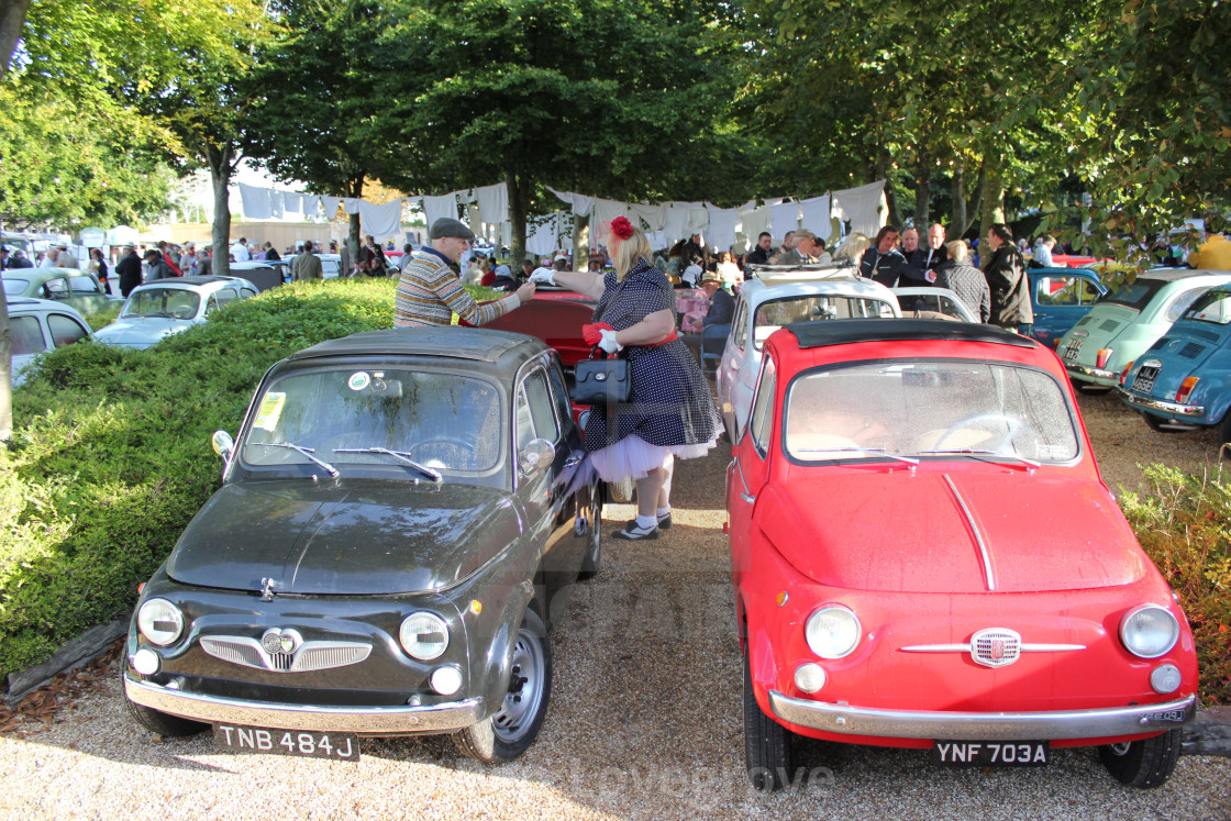 """Fiat Festival, Goodwood Revival, 2017"" stock image"