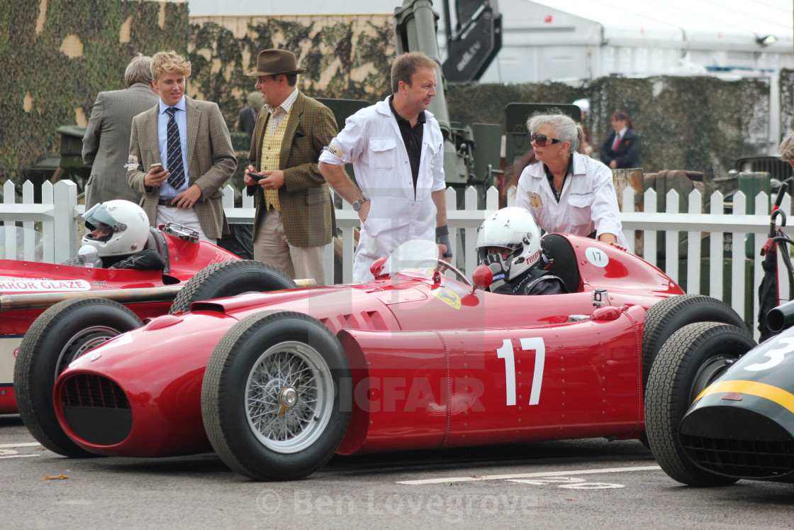 """Start Line Paddock, Goodwood Revival, 2017"" stock image"