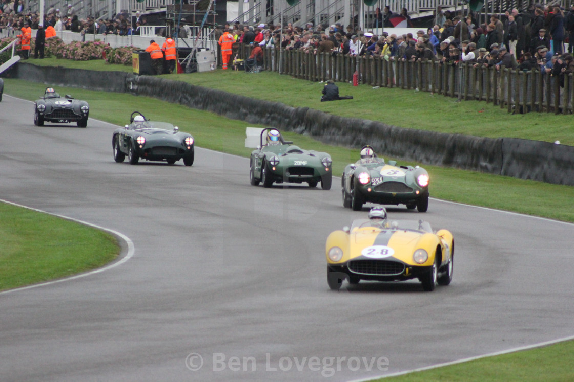 """""""1960s Classic Cars, Goodwood Revival, 2017"""" stock image"""