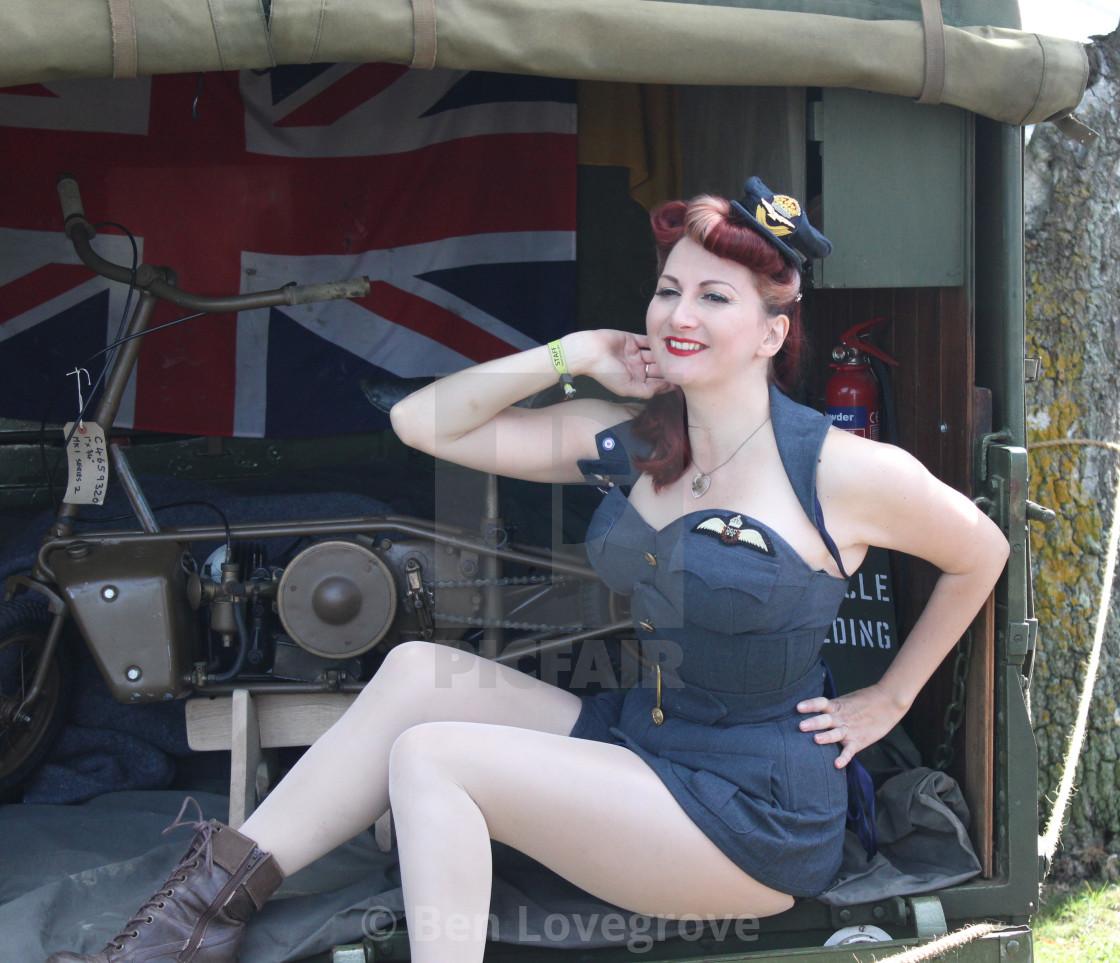 """1940's Pinup Model Kitten von Mew"" stock image"