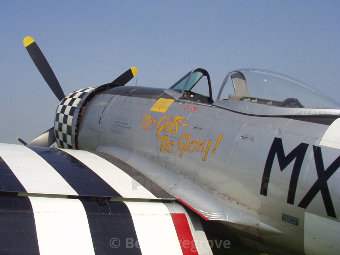 """Republic P-47D Thunderbolt ""No Guts, No Glory"""" stock image"