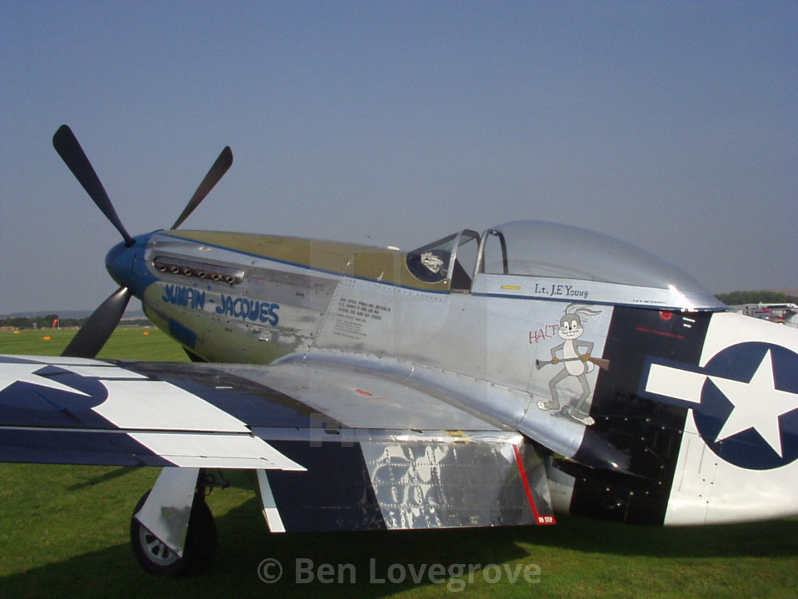 """""""North American P-51D Mustang """"Jumpin-Jacques"""""""" stock image"""