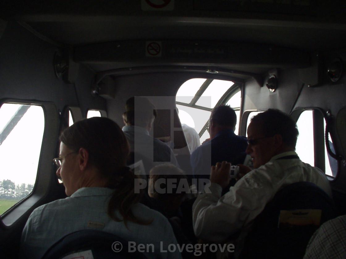 """""""Aboard a de Havilland Rapide"""" stock image"""