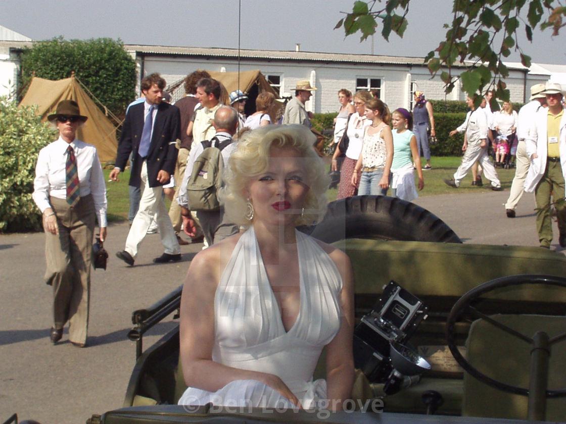 """Marilyn Monroe Impersonator"" stock image"