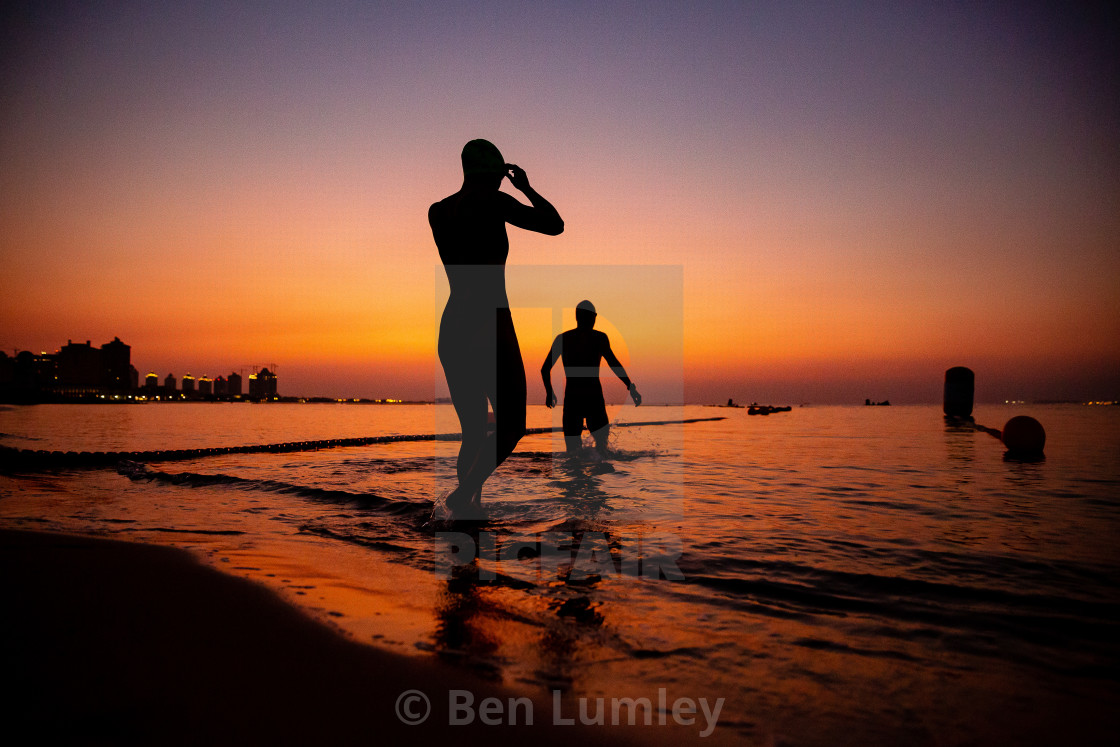 """Entering at Sun up"" stock image"