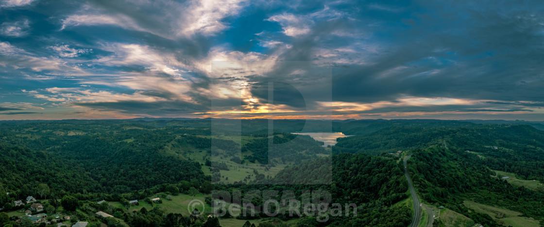 """""""Balmoral Ridge Sunset"""" stock image"""